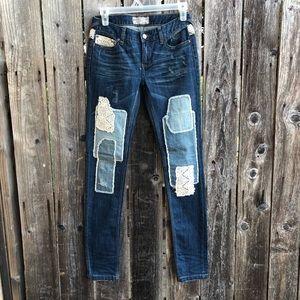 Free People • patchwork Haynes jeans